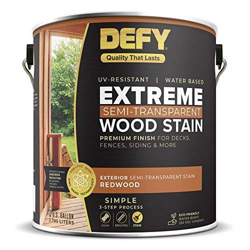 DEFY Extreme 1 Gallon Semi-Transparent Exterior Wood Stain, Redwood
