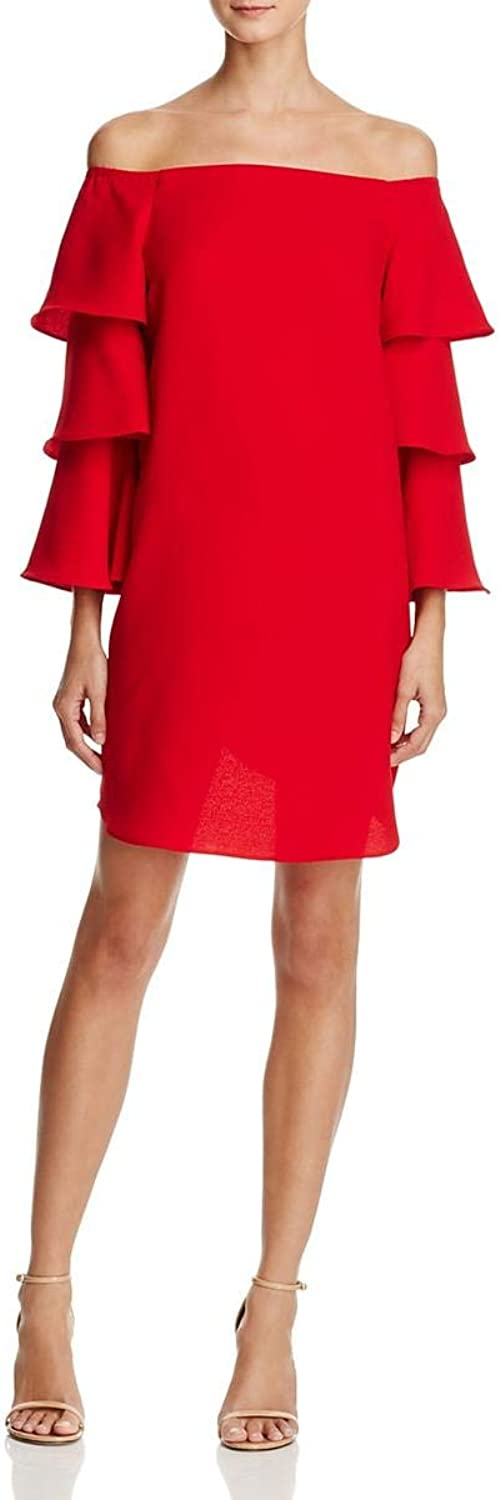 Nanette Nanette Lepore Womens OffTheShoulder Ruffled Cocktail Dress