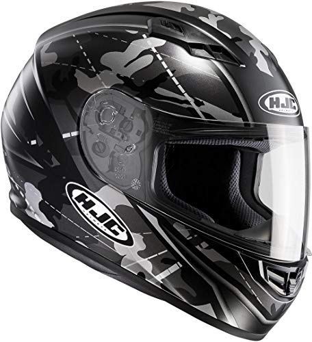 HJC Helmets CS-15 Songtan MC5SF Motorrad Helm, 101675XXL, Schwarz/Grau, XXL (63/64)