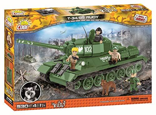 COBI- Spielzeug Small Army – Quattro soldatini carro Armato e Un Giocattolo da Costruzione per Cani, Colore Vari, 2486