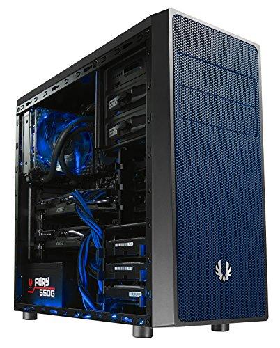 BitFenix BFC-NEO-100-KKXSB-RP Carcasa de Ordenador Midi-Tower Negro, Azul - Caja de Ordenador (Midi-Tower, PC, De plástico, Acero, Negro, Azul, ATX,Micro ATX,Mini-ITX, Fondo)