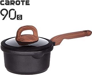 Carote 3-Quart Sauce Pan with Lid, Non-Stick Titanium Coating Soup Pot,Classic Black
