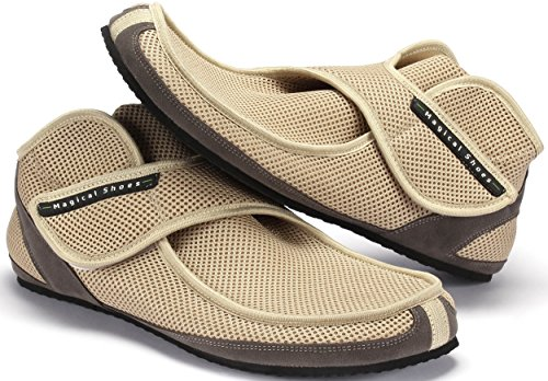 Magical Shoes Recovery Barfußschuhe | Damen | Herren | Jugendliche | Zero Drop | Flexibel | Rutschfest, Größen:43/276mm, Farbe:Beige
