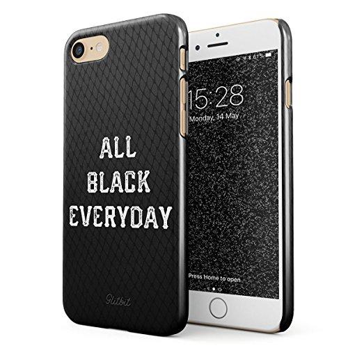 Glitbit Coque pour iPhone 7/8 / Se 2020 Case All Black Everyday Black is Back Happy Color Lover on Wednesdays We Wear Black Grunge Fashion Housse Étui Protecteur Ultra-Mince Plastique Robuste Coque
