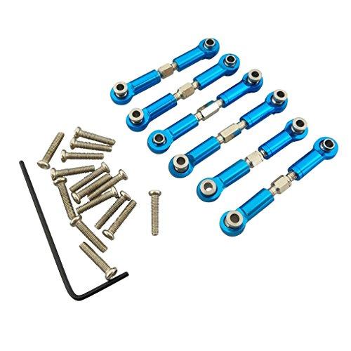 F Fityle 6er-Set Spurstangen Lenkservo Vorne / Hinten mit Zubehör Set für WLtoys A949 A959 A969 A979 K929 A959-B A969-B A979-B K929-B RC Auto-