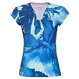 BIDI BADU Bella 2.0 Tech - T-Shirt da Donna con Scollo a V, Donna, Bella 2.0 Tech - Maglietta con Scollo a V, W354009201-TQDBL, Turchese, Blu Scuro, S