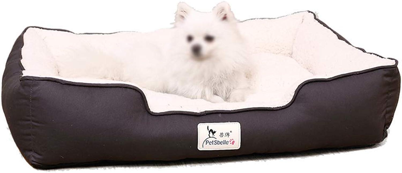 Pet bed Pet Mat, Large Dog Kennel Cat House Removable And Washable Pet Nest Wearresistant Bite Pet Bed (Size   60×40×18cm)