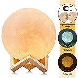 Lampe de Chevet LED 3D avec capteur de Lune, Couleur Changeante et Variable, Couleur...