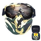 FMC Motocross Goggles, Motorrad-Sonnenbrille Staubbrille Removable Goggles Winddichtes, Gesichtsmaske für Outdoor Off-Road Motocross Bike,F