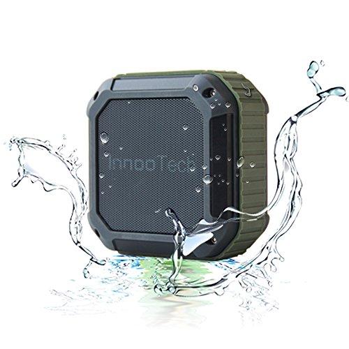 Innoo Tech Bluetooth-Lautsprecher, tragbar, kabellos, für den Außenbereich, wasserdicht, 3D Stereo mit FM-Radio