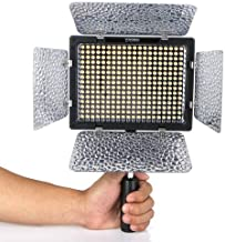 Yongnuo Professional LED Video Light Flash YN300-II With 300pcs Lamps, 4 color sheets for DSLR Camera Canon EOS, 3200-5500K adjustable color temperature