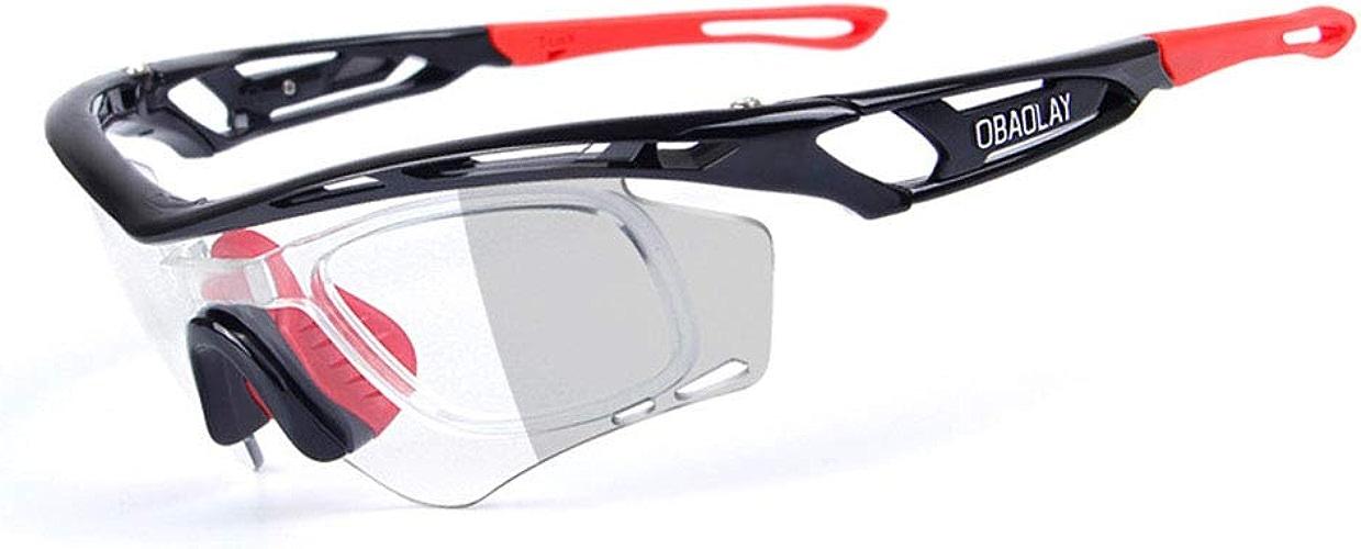 NgMik Lunettes de Soleil d'équitation de sablage Lunettes de Soleil Spécialiste Sport Prougeection UV400 - FonctionneHommest Cyclisme Ski Snowboarding Frame Design Lunettes de Soleil Cyclistes