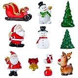 KATELUO 11 Mini Adornos Navideños,Jardín Miniatura Navidad,Minifiguras...