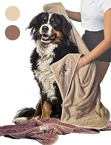 Dolphin & Dog - Dog Towel Set Super Absorbent - 2 Large Luxury Towels for Dogs - Quick Drying and Machine Washable - Dog Microfiber Towels - Perfect Dog Gifts - 52 x 30 inches