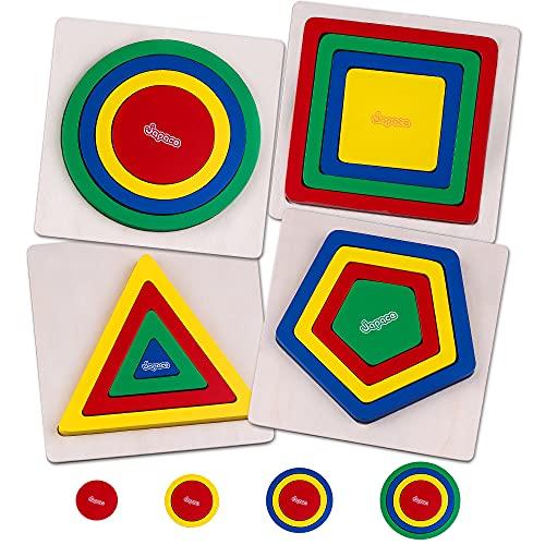 Rompecabezas de Madera para Niños, Rompecabezas de clasificación de Formas, Tablero de Clasificación de Formas, Juguetes Montessori para Niños Pequeños, Regalo de Aprendizaje para Niños