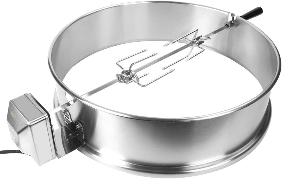 """onlyfire Stainless Steel Rotisserie Ring Kit Barbecue Accessories for Weber 22"""" Kettle Grill and Other Similar Size Grills : Garden & Outdoor"""