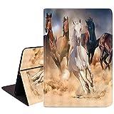 iPad Mini 5/Mini 4 Case, iPad Mini 1/2/3 Case,Slim Soft Rubber Back Shockproof Protective Case with Auto Wake/Sleep for iPad Mini 5th/4th Gen 7.9 Inch, Horse