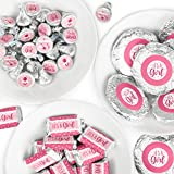 It's a Girl - Mini Candy Bar Wrappers, Round Candy Stickers and Circle Stickers - Pink Baby Shower Candy Favor Sticker Kit - 304 Pieces