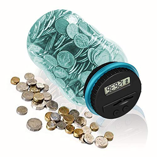 HeQiao Digital Coin Bank for US Coins (Light Blue)