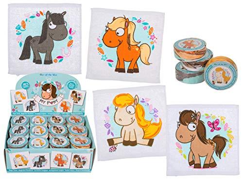 Magico Asciugamano Magico con Unicorno, Llama o Altri Animali Motivo Guanto da Doccia per Bambini Compleanno regalino Idea Regalo Party Vincitore Gioco Give-aways 4er Set My Pony