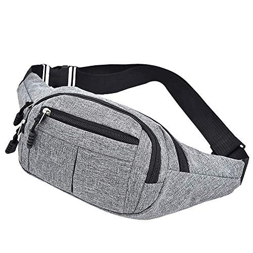 AYCPG Men Women Bag Simple Leisure Oxford Sport Fitness Waist Packs Outdoor Sport Waist Bag For Man Woman lucar (Color : C)