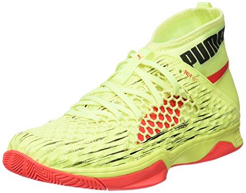 Puma Puma Unisex-Erwachsene Evospeed Netfit Euro 1 Multisport Indoor Schuhe, Gelb Fizzy Yellow Red Blast Black, 47 EU