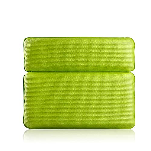 FADJIKKP Baignoire Oreiller, Souple et élastique, Mousse PVC éponge Oreiller, adapté à la Maison Salle de Bains, Baignoire Accessoires (Color : Green)