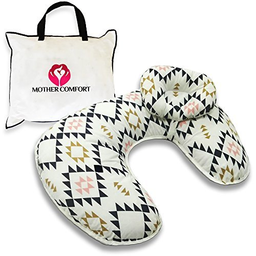 Mother Comfort - Comfortable for Both Mother and Baby - Removable Cotton Cover- Easy to Wash … (Triangle Design)