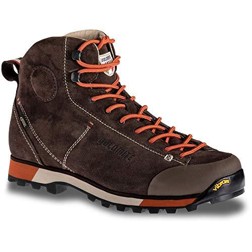 Dolomite M Cinquantaquattro 54 Hike GTX Braun-Rot, Herren Gore-Tex Hiking- und Approachschuh, Größe EU 42.5 - Farbe Da