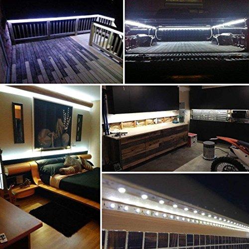 longdafe Tiras led Solares Exterior con 100LED 16.4ft // 5 m 2 Modos de luz para Jard/ín Patio Decorativo Patio Cold White Escaleras Patio Trasero Camino Cerca