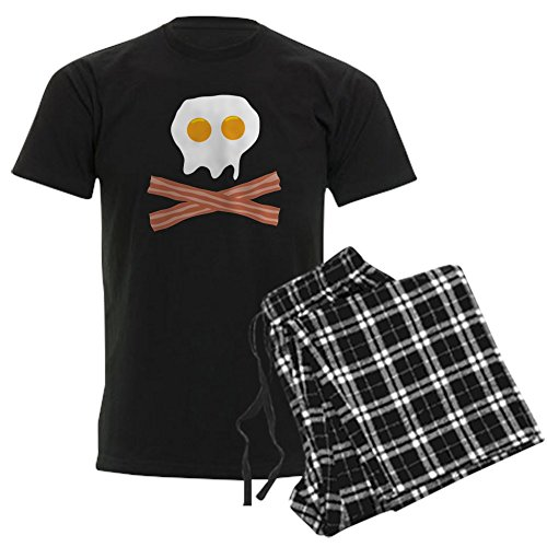 CafePress Eggs Bacon Skull Unisex Novelty Cotton Pajama Set, Comfortable PJ Sleepwear