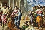 The Miracle of Christ Healing the Blind El Greco b1517 A3 Poster - Papel fotográfico grueso brillante (16.5/11.7 inch)(42/30 cm) - Película Decoración de pared Arte Actor Actriz Regalo Anime Auto Ci