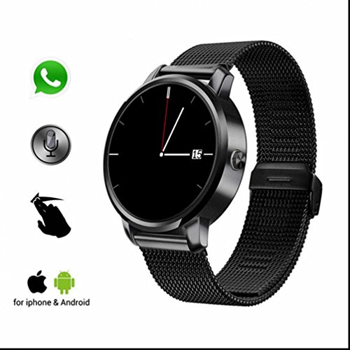 Sansun Watch Ultra-sottile Smart Watc antigraffio ad alta risoluzione touch screen USB Quick Charge, vetro display sport Watch per iPhone Android Smartphone