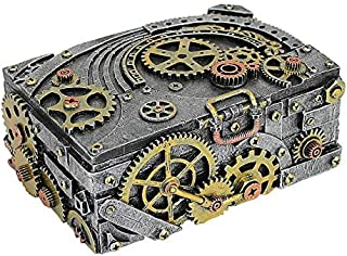 Design Toscano Steampunk Cog and Turbine Gearbox, Pewter