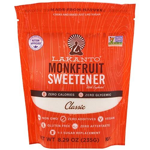 Lakanto Monk Fruit Sweetener, Classic, 8.29 oz