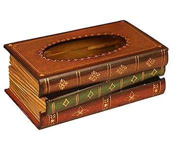 Tosnail Elegant Wooden Antique Book Tissue Holder Dispenser/Novelty Napkin Holder