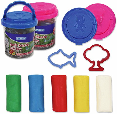 Stylex 5 Stangen - 5 Farben Soft-Knete in praktischer Aufbewahrungsdose