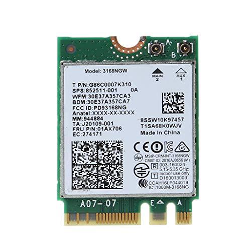 Ontracker per scheda Wi-Fi Int-EL 3168 AC 3168NGW NGFF M.2 802.11ac Wi-Fi Dual Band