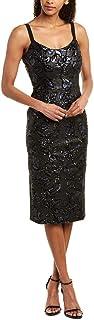 Dress the Population womens Lynda Sequin Sleeveless Fitted Midi Sheath Dress Dress