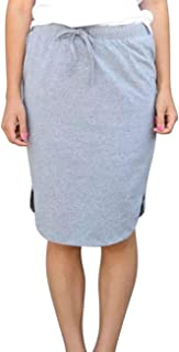 Womens Skirts Knee-Length Pencil-Skirts Solid Midi-Skirts for Ladies Stretchy Drawstring Daily Skirts