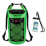 Piscifun Waterproof Dry Bag Backpack 10L Floating Dry Backpack with Waterproof Phone Case for Water Sports - Fishing Boating Kayaking Surfing Rafting Camping Gifts for Men and Women Light Green