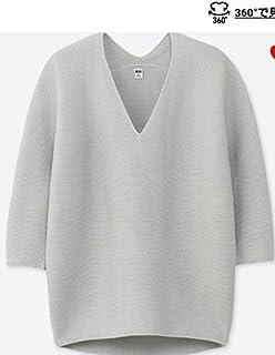 ユニクロuniqlo白色ホワイト3Dコクーンニット大人気woman XLオンラインサイズ