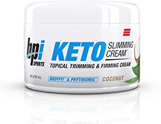 BPI Sports Keto Slimming Cream � Ketogenic Diet Support � Skin Firming, Skin Toning, Reduce Cellulite � Bhb Salts, Bodyfit & Phytosonic � Coconut Scent � Topical Cream � 8 Oz.