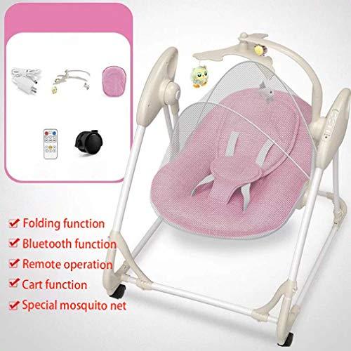 ZWQ kids Automatique à Bascule bébé Chaise, Chaise bébé Confort transat Berceau électrique, agitateur à Bascule Enfant Nouveau-né pour 0-2 bébé,B