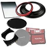 WonderPana 66 FreeArc Esenciales ND 0.6 BS - Adaptador de Filtros 145mm y 6.6x8.5, Tapa de Lente, 6.6x8.5' 0.6 Filtro de Densidad Neutra Degradado de Borde Duro y ND16 145mm Filtro de Densidad Neutra para el Lente Nikon 14mm AF Nikkor f/2.8D ED (Fotograma Completo 35mm)