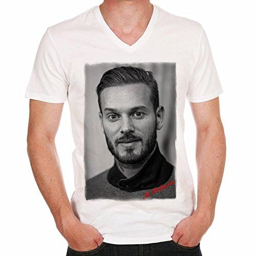 One in the City M Pokora H T-Shirt,Cadeau,Homme, cŽlŽbritŽ,Blanc, M,t Shirt Homme