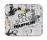 Makoroni - Essen Schlaf Trampolin Sport - rutschfestes Gummi - Computer, Gaming, Office Mousepad