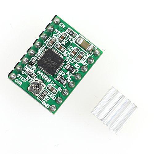 Paradisetronic.com A4988 Schrittmotor-Treiber-Modul mit Kühlkörper, z.B. für RAMPS 1.4/1.6, CNC-Shield, 3D Drucker, Mega i3, Prusa Mendel