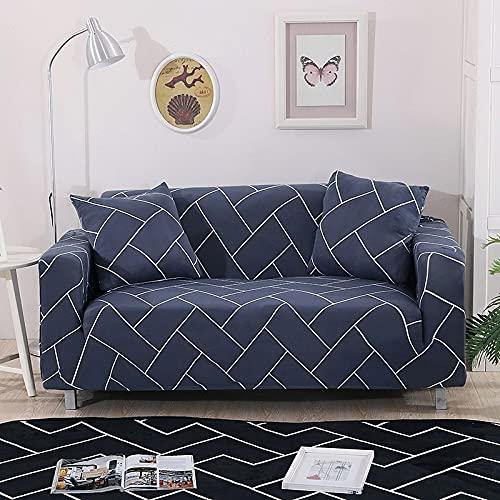 MKQB Funda de sofá geométrica, Funda de sofá telescópica elástica, Funda de sofá de Esquina en Forma de L, Funda Protectora de Muebles para Mascotas NO.8 M (145-185cm