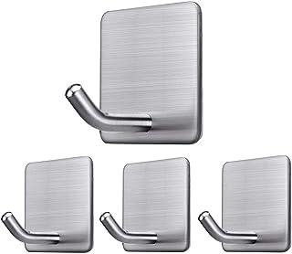 Womdee Adhesive Hooks Stick on Hooks Heavy Duty Wall Hooks Hangers for Hanging Bathroom Kitchen Home Door Closet Cabinet-S...